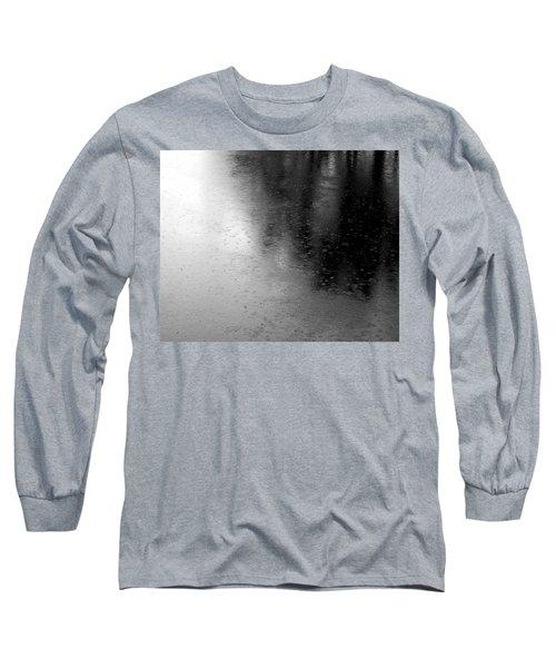 River Rain  Naperville Illinois Long Sleeve T-Shirt by Michael Bessler