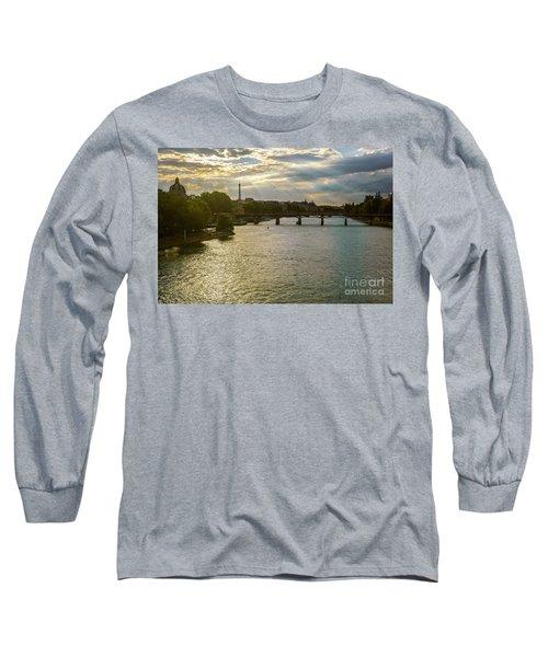 River Seine At Dusk Long Sleeve T-Shirt