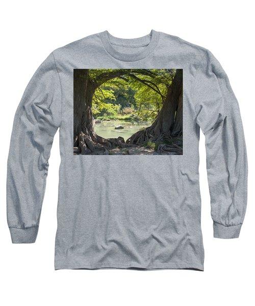 River Through Trees Long Sleeve T-Shirt