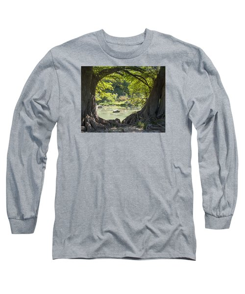 River Through Trees Long Sleeve T-Shirt