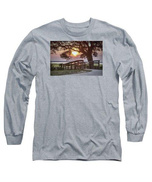 Long Sleeve T-Shirt featuring the digital art River Walk by Phil Mancuso