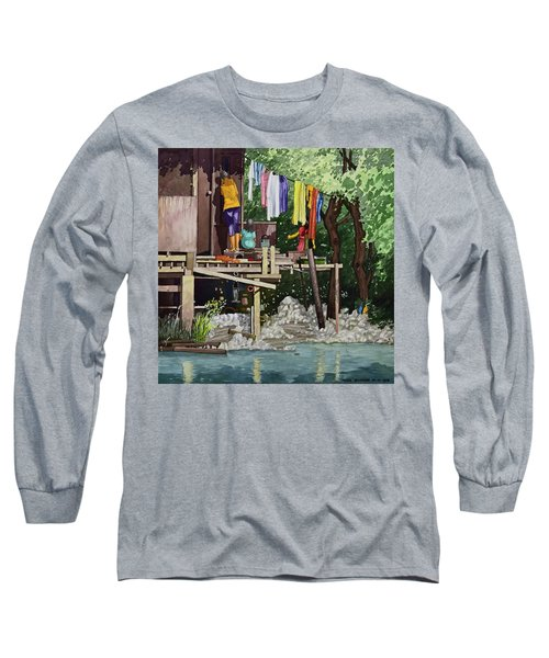 Riverside House And It's Laundry Long Sleeve T-Shirt