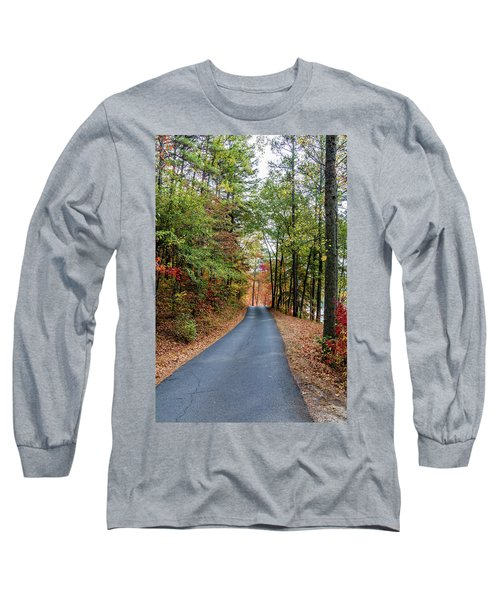 Road In The Woods Long Sleeve T-Shirt