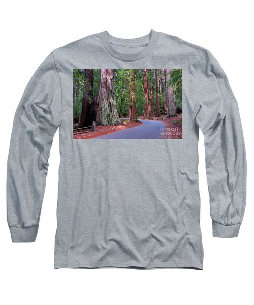 Road Through Redwood Grove Long Sleeve T-Shirt
