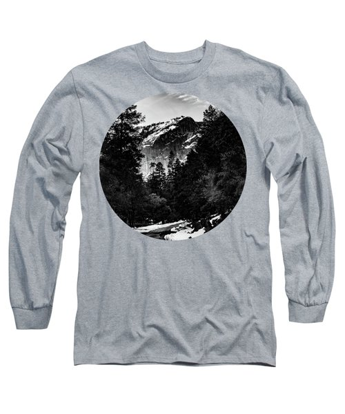 Road To Wonder, Black And White Long Sleeve T-Shirt
