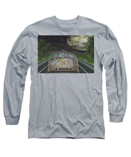 Long Sleeve T-Shirt featuring the digital art Road Trip In The Rain by Angela Hobbs