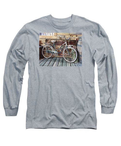Roadmaster Bicycle Long Sleeve T-Shirt by Joey Agbayani