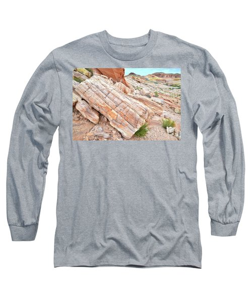 Long Sleeve T-Shirt featuring the photograph Roadside Sandstone In Valley Of Fire by Ray Mathis
