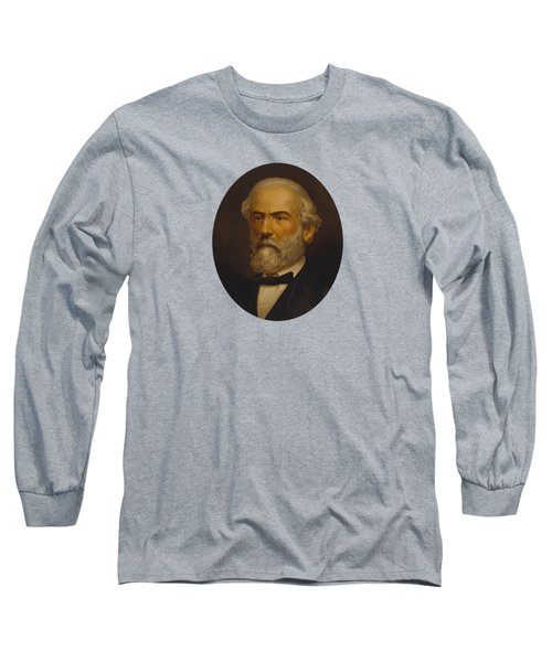 Long Sleeve T-Shirt featuring the painting Robert E Lee by War Is Hell Store
