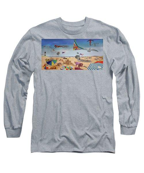 Robert Moses Beach Towel Version Long Sleeve T-Shirt