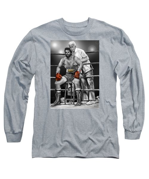 Roberto Red Gloves Of Gray  Long Sleeve T-Shirt
