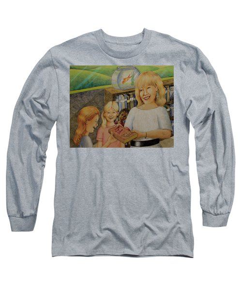 Robin Gives The Book Of Stories To The Children Long Sleeve T-Shirt