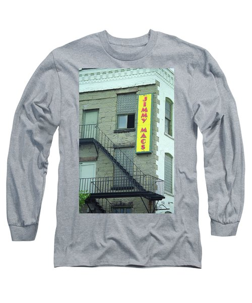 Long Sleeve T-Shirt featuring the photograph Rochester, New York - Jimmy Mac's Bar 2 by Frank Romeo