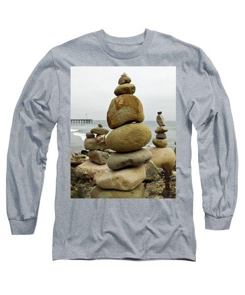 Rock Art Long Sleeve T-Shirt by Joe  Palermo