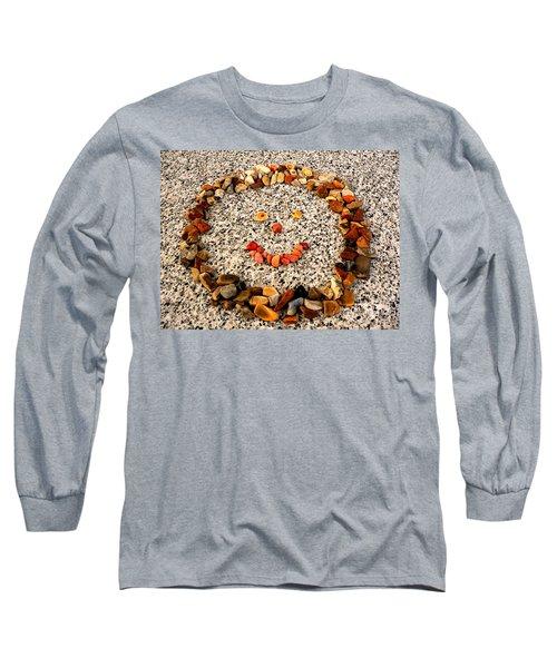 Rock Face On Granite Long Sleeve T-Shirt