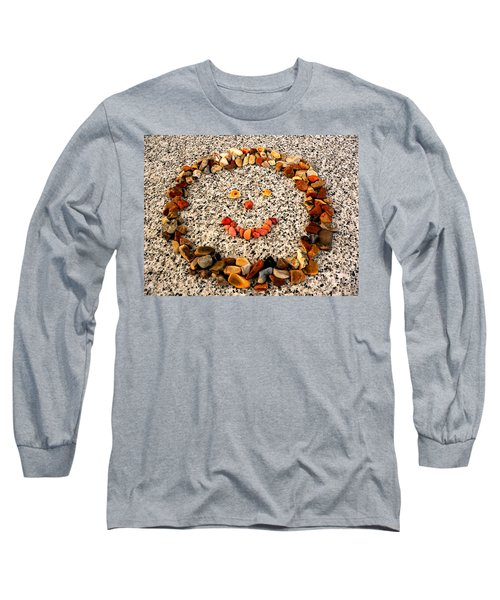 Rock Face On Granite Long Sleeve T-Shirt