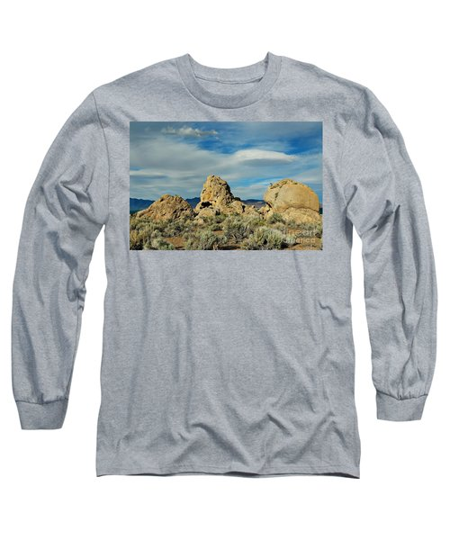 Long Sleeve T-Shirt featuring the photograph Rock Formations At Pyramid Lake by Benanne Stiens