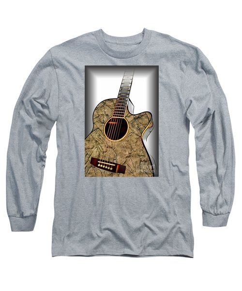 Rock Guitar 1 Long Sleeve T-Shirt by Walt Foegelle