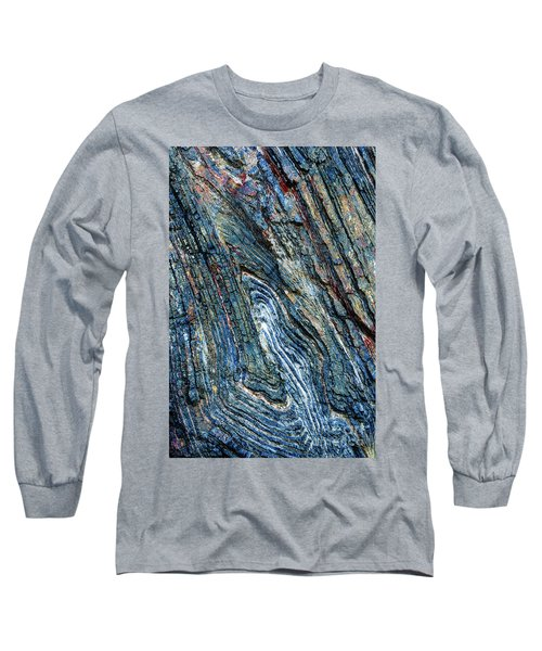 Long Sleeve T-Shirt featuring the photograph Rock Pattern Sc03 by Werner Padarin