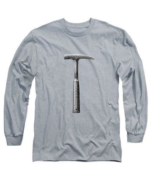 Rock Pick On Plywood 64 In Bw Long Sleeve T-Shirt