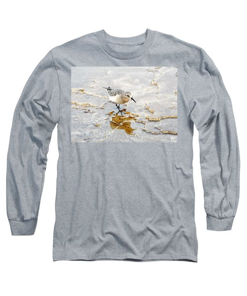 Rock Wren In Mammoth Springs Yellowstone Long Sleeve T-Shirt