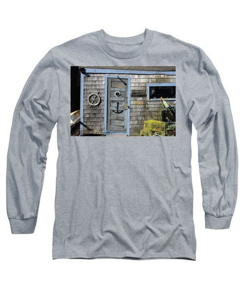Rockport Fishing Shack Long Sleeve T-Shirt by Lou Ford