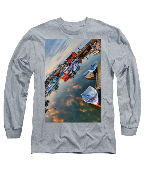 Long Sleeve T-Shirt featuring the photograph Rockport Harbor Motif #1  by Joann Vitali