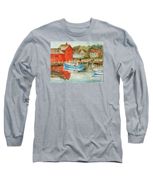 Long Sleeve T-Shirt featuring the painting Rockport by P Maure Bausch