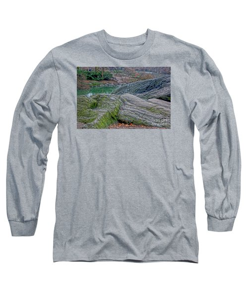 Long Sleeve T-Shirt featuring the photograph Rocks At Central Park by Sandy Moulder
