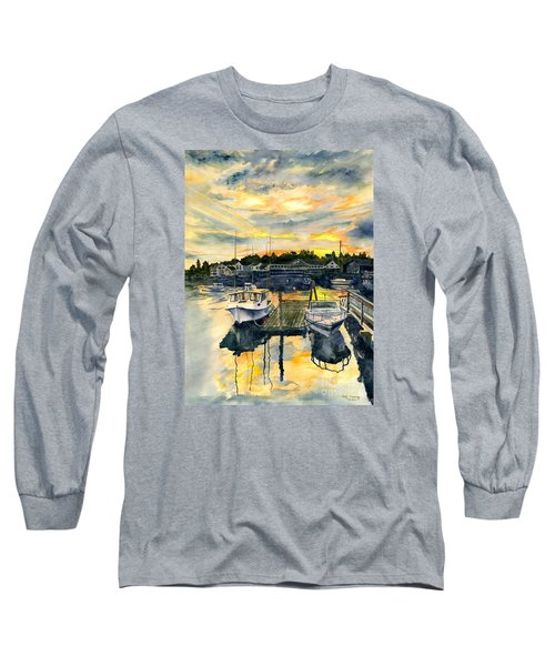 Rocktide Sunset Long Sleeve T-Shirt by Melly Terpening