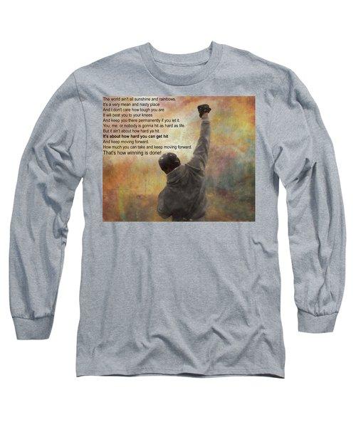 Rocky Balboa Inspirational Quote Long Sleeve T-Shirt