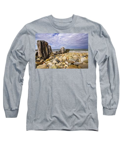 Rocky Beach In Springs Ny Long Sleeve T-Shirt