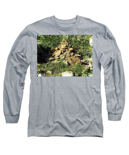 Long Sleeve T-Shirt featuring the photograph Rocky Mountain Cairn by Joseph Hendrix