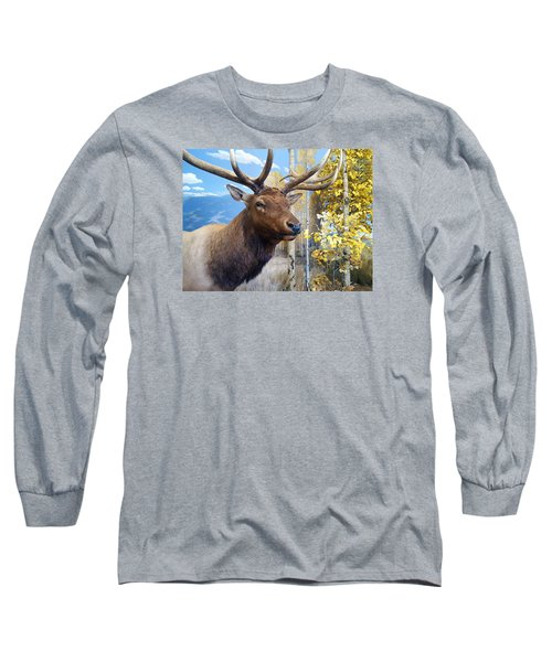 Long Sleeve T-Shirt featuring the photograph Rocky Mountain Elk by Karon Melillo DeVega
