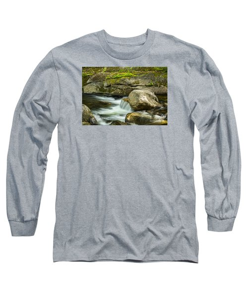 Long Sleeve T-Shirt featuring the photograph Rocky Stream by Alana Ranney