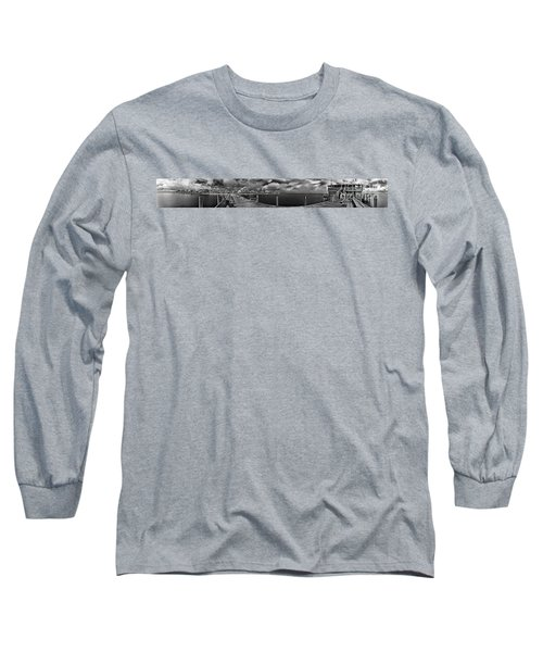 Rod And Reel Pier In Infrared Long Sleeve T-Shirt