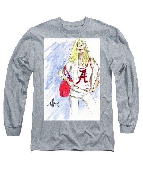Long Sleeve T-Shirt featuring the painting Roll Tide by P J Lewis