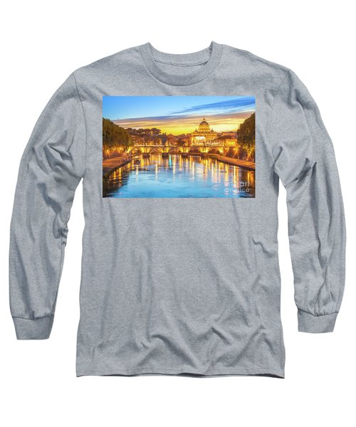 Rome At Twilight Long Sleeve T-Shirt