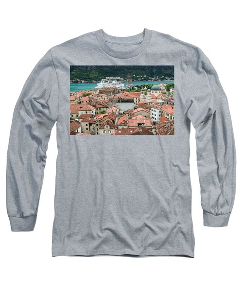 Rooftops Of Kotor  Long Sleeve T-Shirt