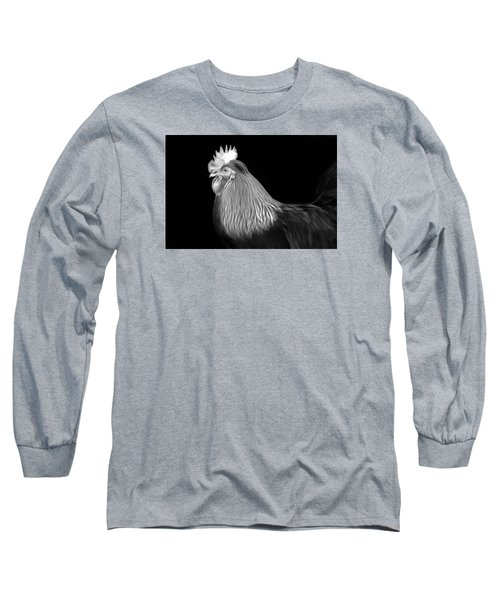Rooster Long Sleeve T-Shirt by Marion Johnson