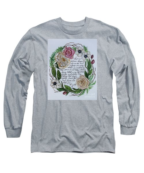 Rooted Long Sleeve T-Shirt by Elizabeth Robinette Tyndall
