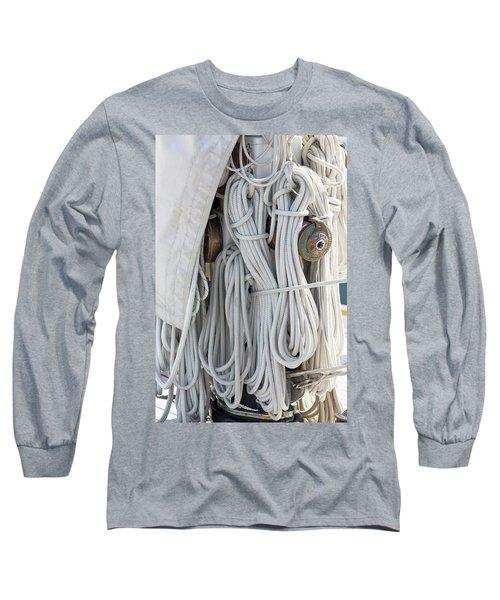 Ropes Of A Sailboat Long Sleeve T-Shirt