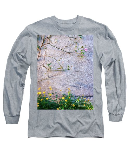 Long Sleeve T-Shirt featuring the photograph Rose And Yellow Flowers by Silvia Ganora
