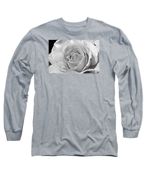 Rose In Black And White Long Sleeve T-Shirt by Mindy Bench