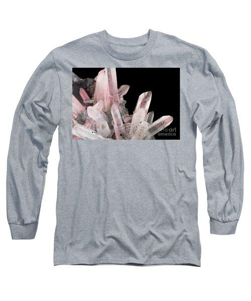 Rose Quartz Crystals Long Sleeve T-Shirt