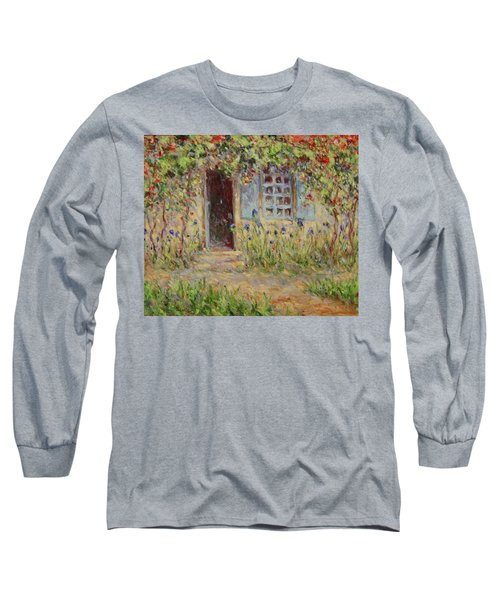 Rose Trees At The Front Of The House Long Sleeve T-Shirt