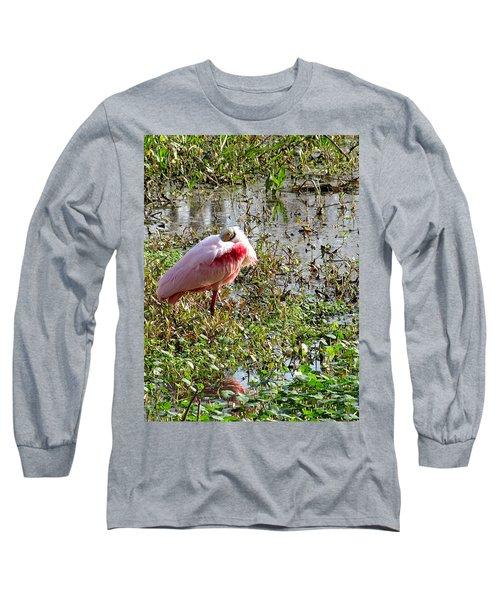 Roseate Spoonbill 000 Long Sleeve T-Shirt