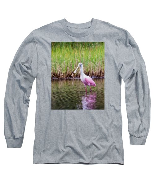 Long Sleeve T-Shirt featuring the photograph Roseate Spoonbill  by Patricia Schaefer