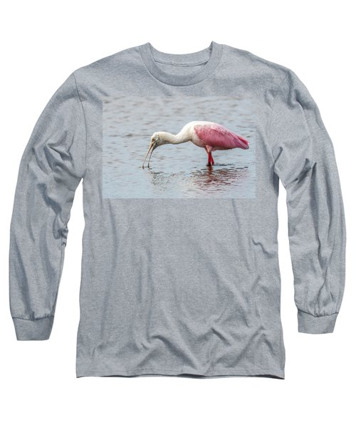 Long Sleeve T-Shirt featuring the photograph Roseate Spoonbill by Paul Freidlund