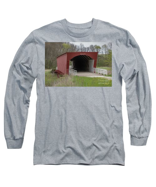 Roseman Covered Bridge - Madison County - Iowa Long Sleeve T-Shirt